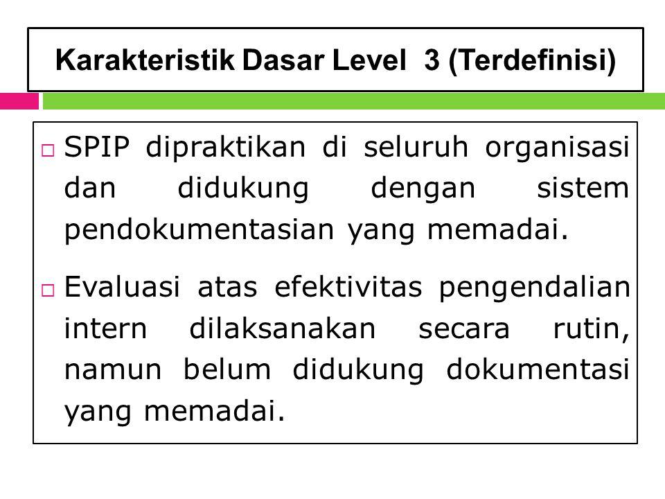 Karakteristik Dasar Level 3 (Terdefinisi)