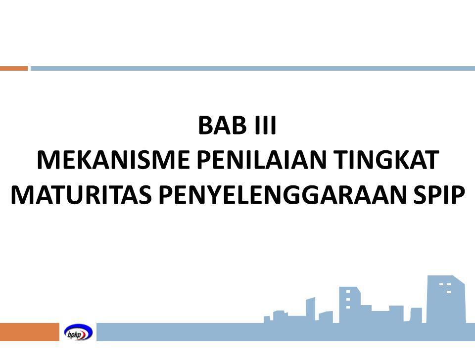 BAB III MEKANISME PENILAIAN TINGKAT MATURITAS PENYELENGGARAAN SPIP