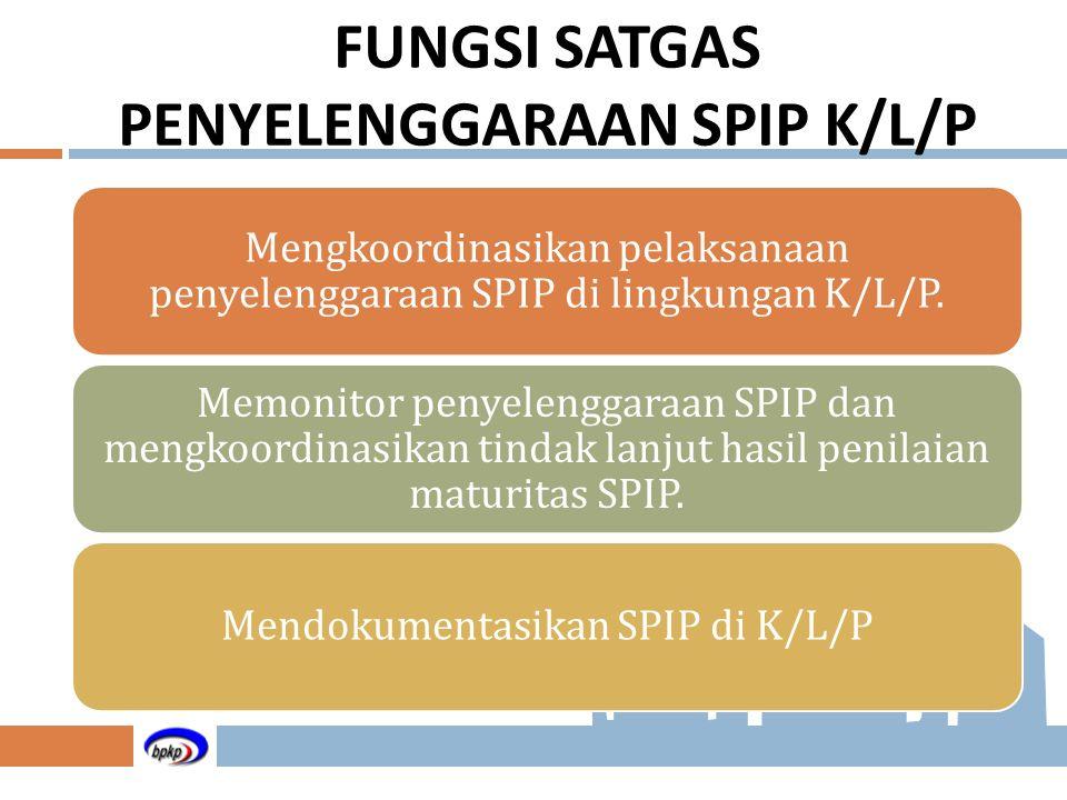 FUNGSI SATGAS PENYELENGGARAAN SPIP K/L/P