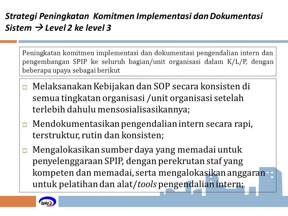 Strategi Peningkatan Komitmen Implementasi dan Dokumentasi Sistem  Level 2 ke level 3