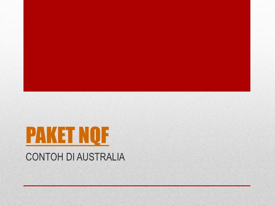 PAKET NQF CONTOH DI AUSTRALIA