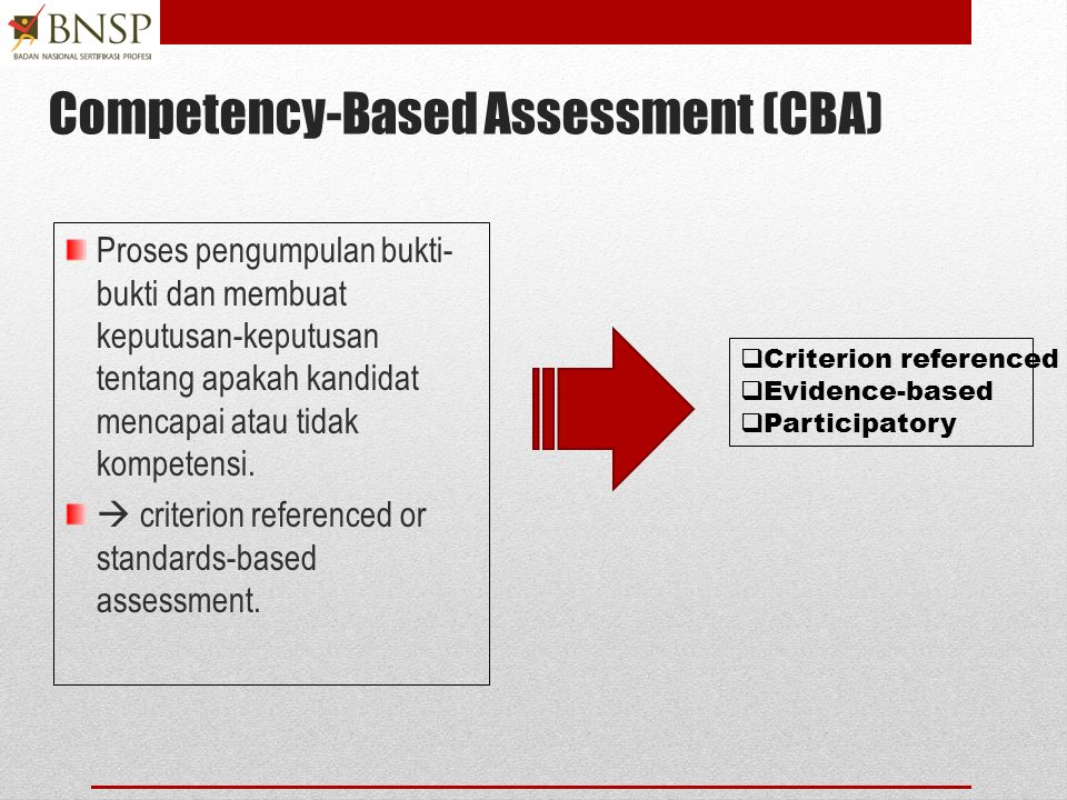 Competency-Based Assessment (CBA)