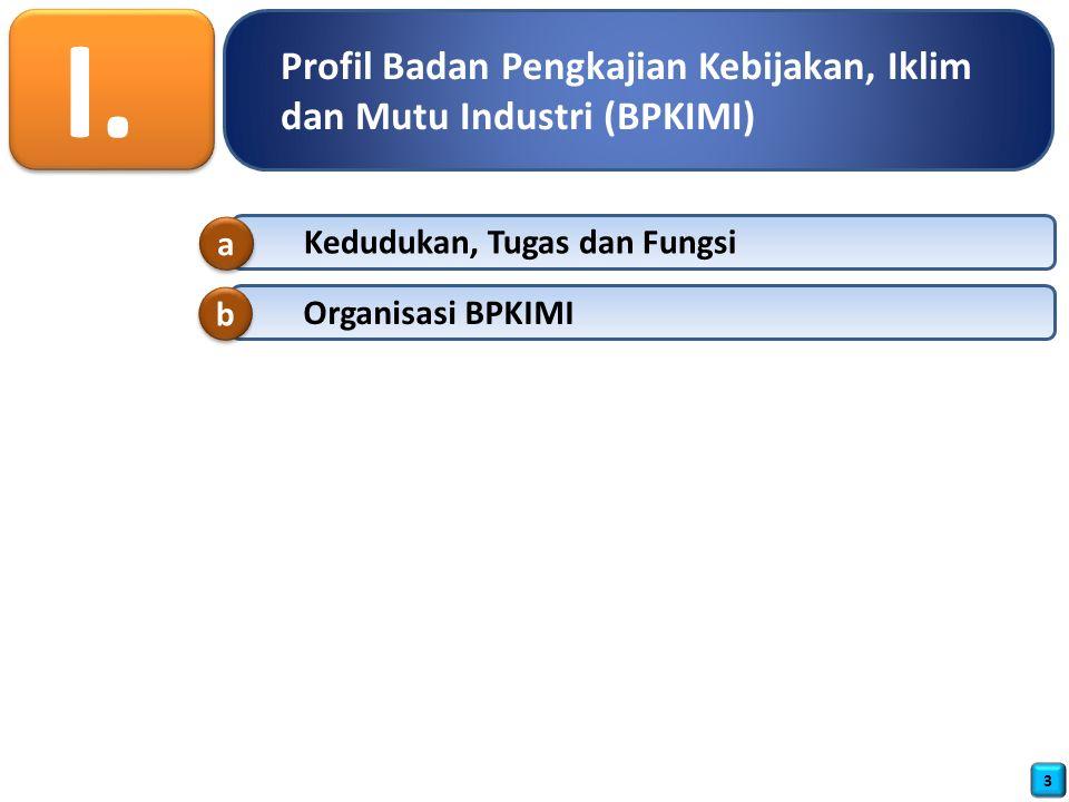 I. Profil Badan Pengkajian Kebijakan, Iklim dan Mutu Industri (BPKIMI)