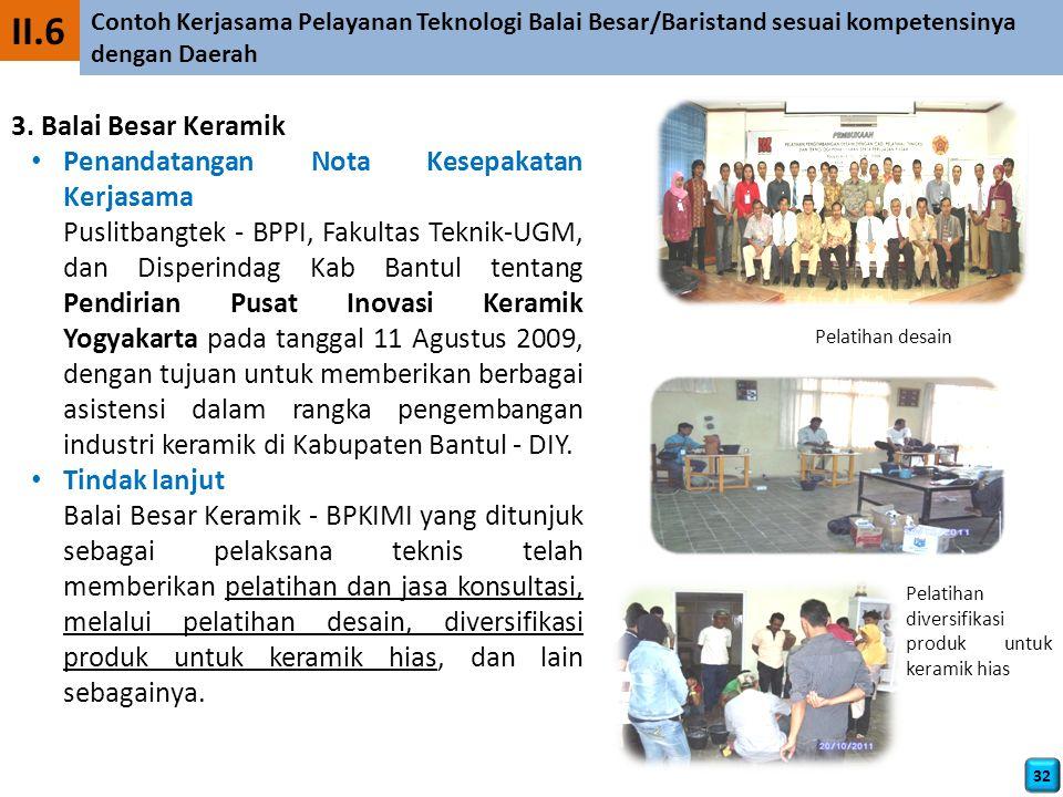 II.6 3. Balai Besar Keramik Penandatangan Nota Kesepakatan Kerjasama