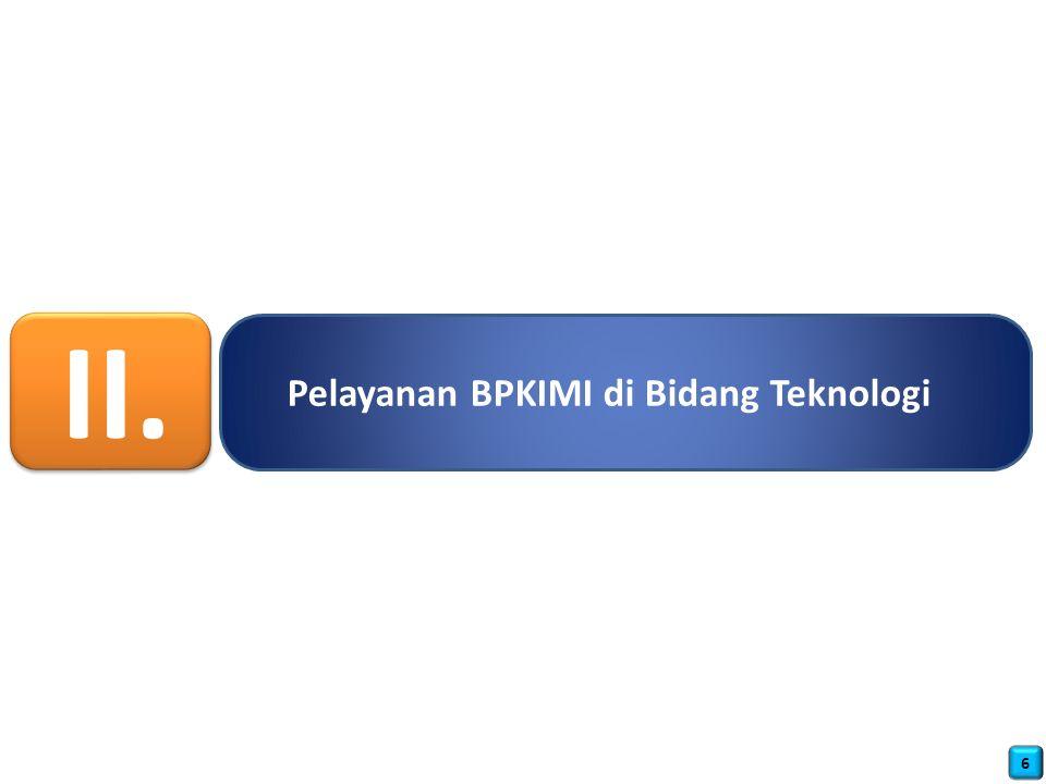II. Pelayanan BPKIMI di Bidang Teknologi 6
