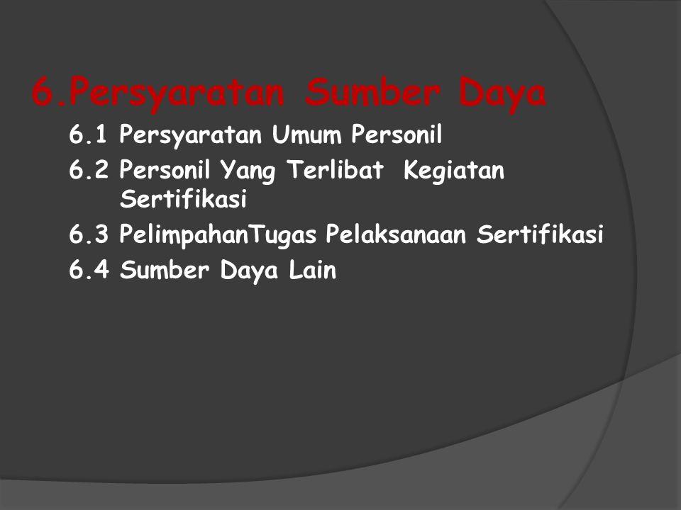 6.Persyaratan Sumber Daya
