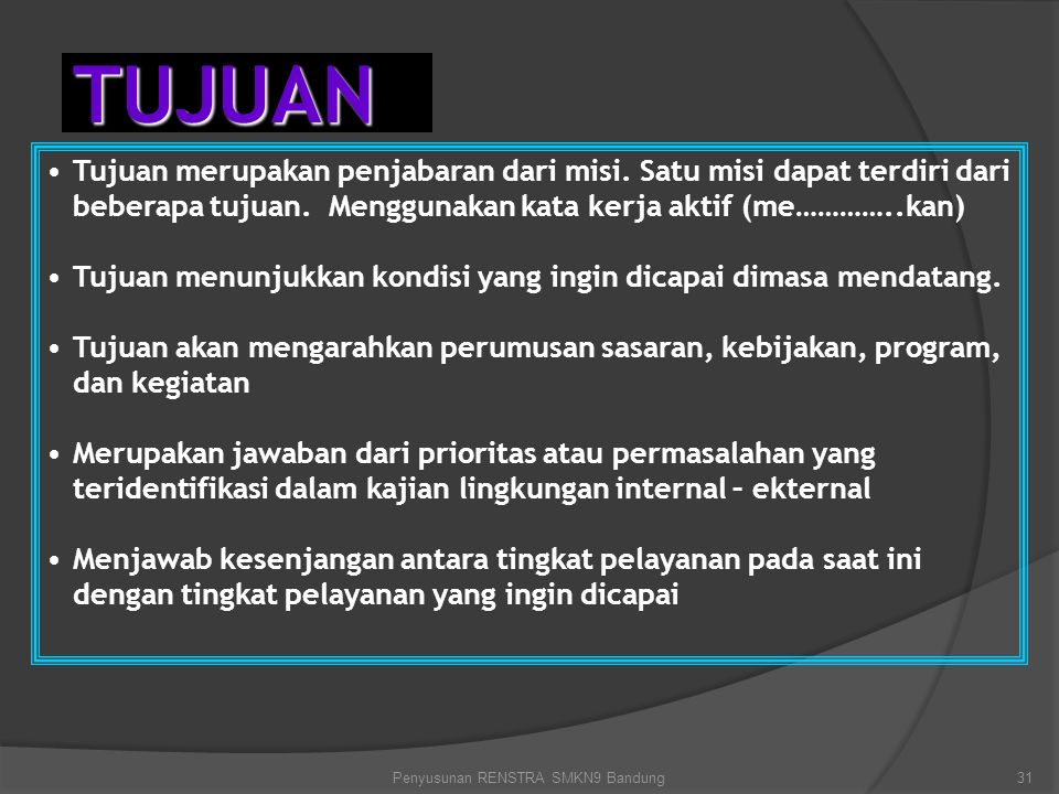 Penyusunan RENSTRA SMKN9 Bandung