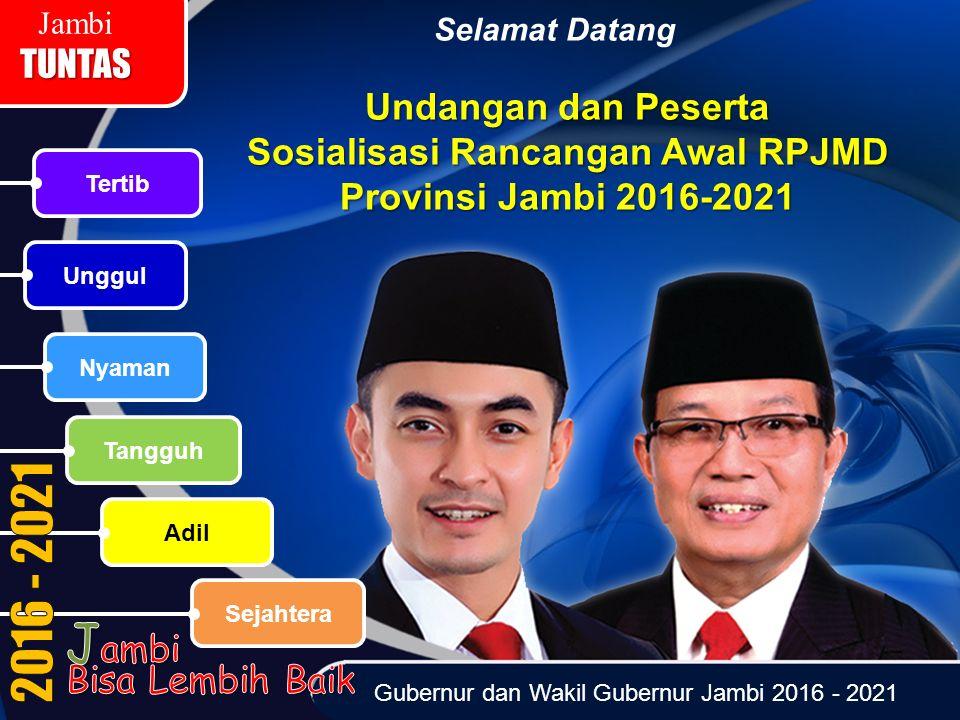 Sosialisasi Rancangan Awal RPJMD Provinsi Jambi 2016-2021