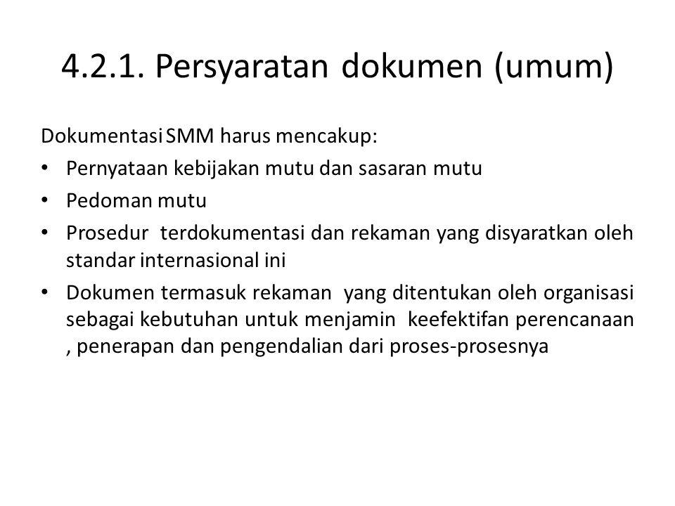 4.2.1. Persyaratan dokumen (umum)