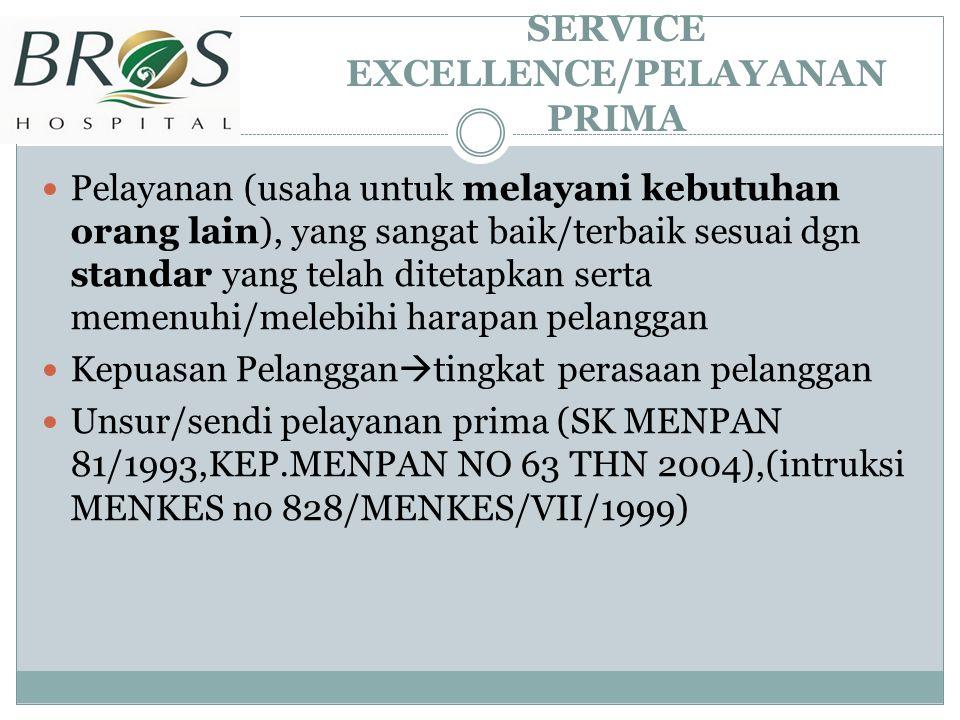 SERVICE EXCELLENCE/PELAYANAN PRIMA
