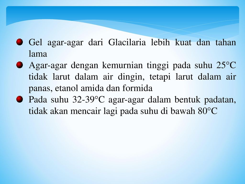 Gel agar-agar dari Glacilaria lebih kuat dan tahan lama