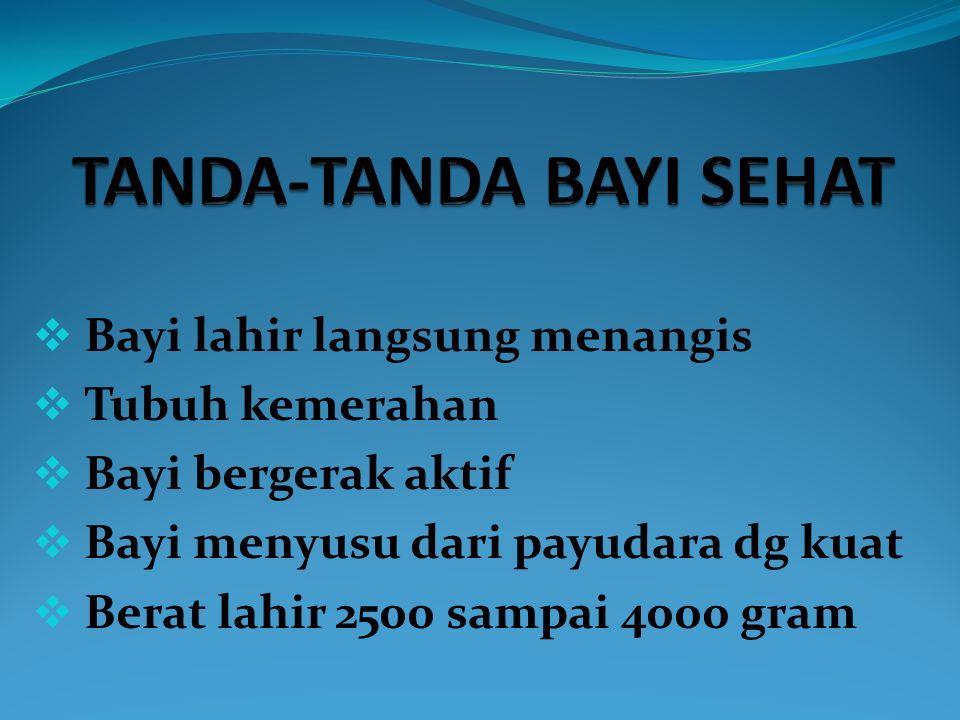 TANDA-TANDA BAYI SEHAT