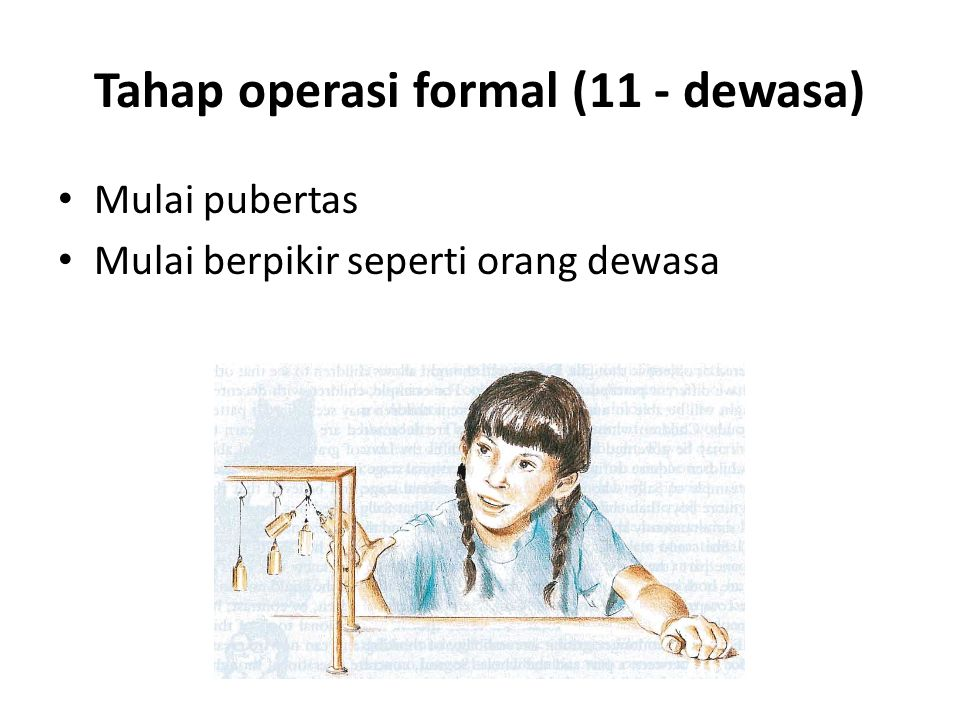 Tahap operasi formal (11 - dewasa)