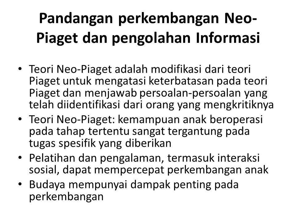 Pandangan perkembangan Neo-Piaget dan pengolahan Informasi