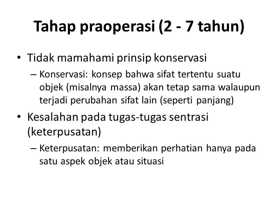 Tahap praoperasi (2 - 7 tahun)