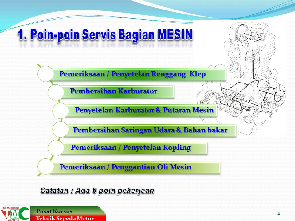 1. Poin-poin Servis Bagian MESIN