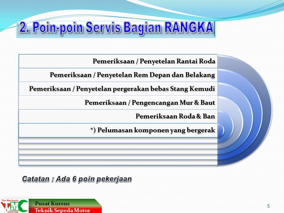 2. Poin-poin Servis Bagian RANGKA