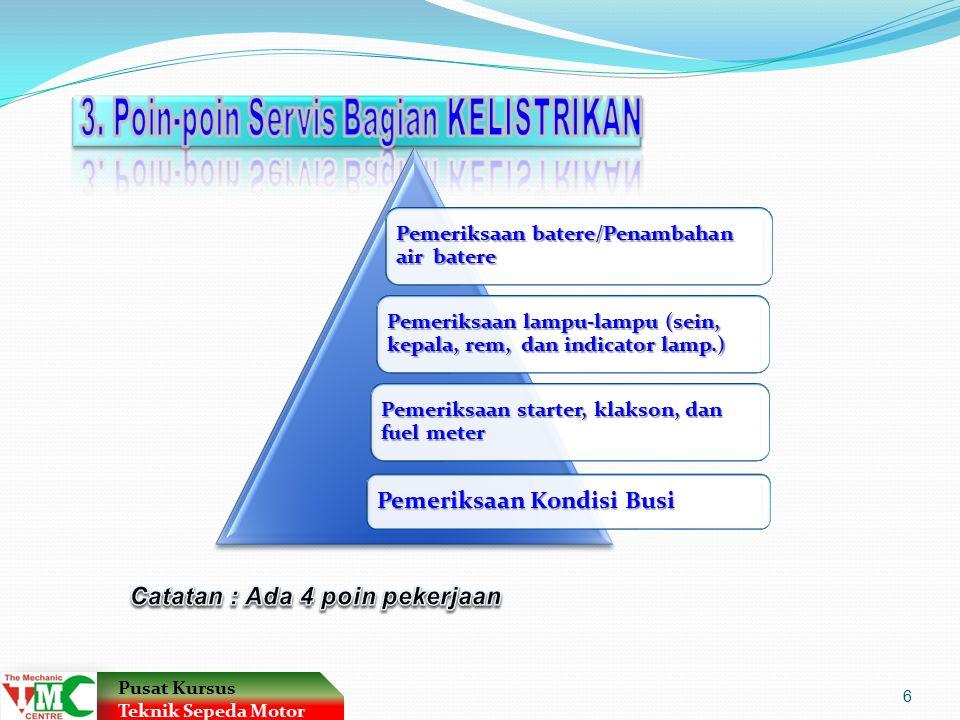 3. Poin-poin Servis Bagian KELISTRIKAN