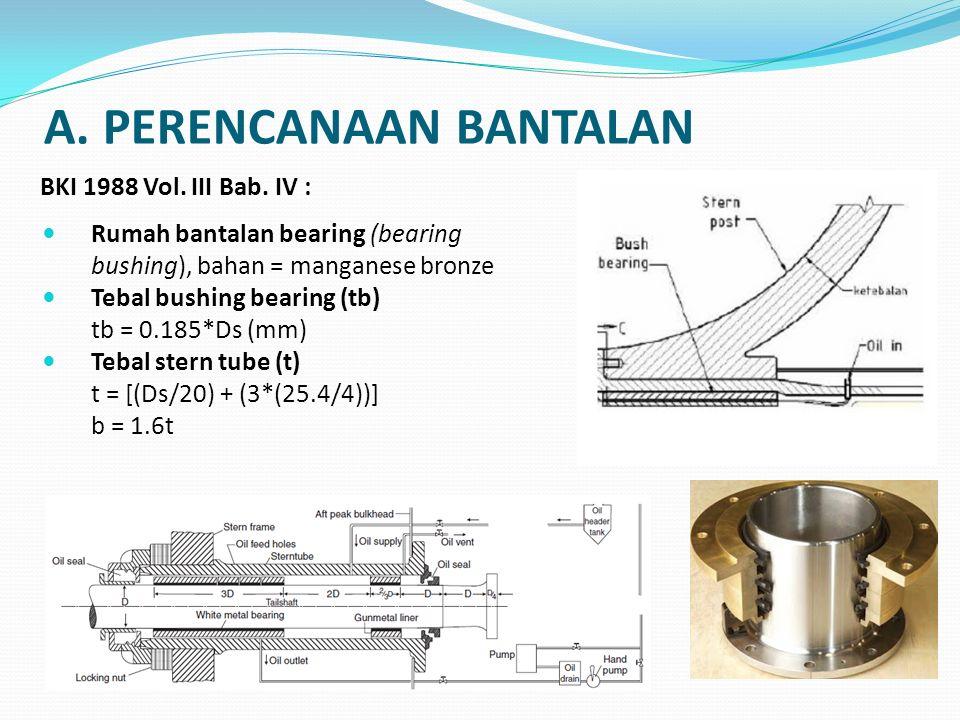 A. PERENCANAAN BANTALAN
