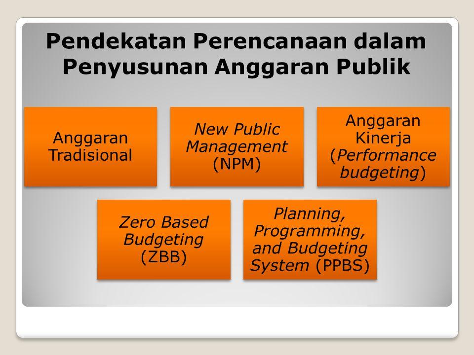 Pendekatan Perencanaan dalam Penyusunan Anggaran Publik