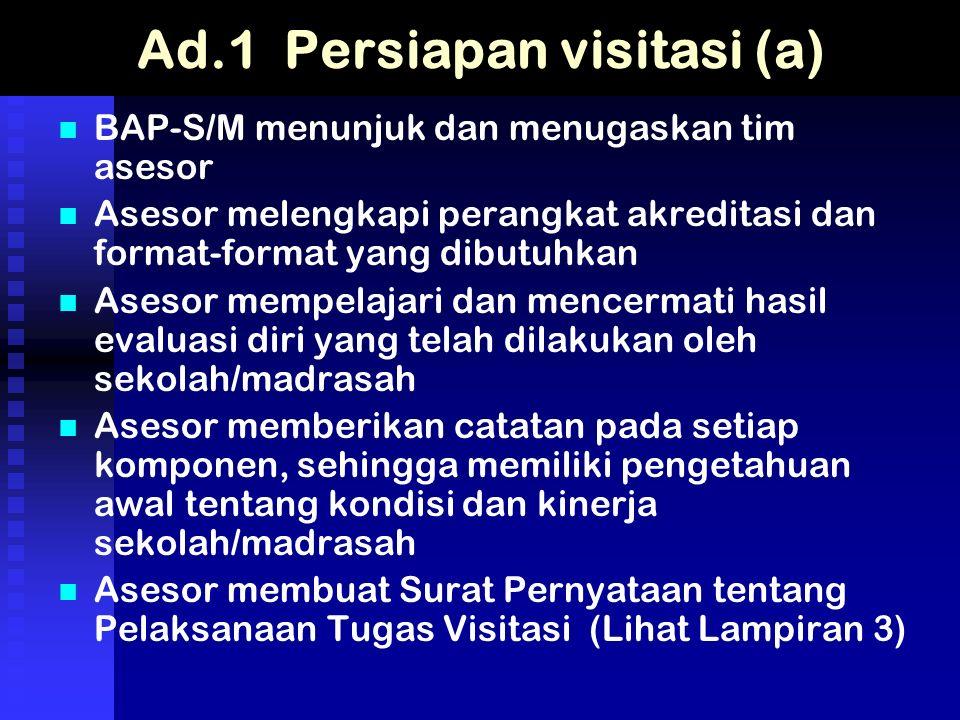Ad.1 Persiapan visitasi (a)