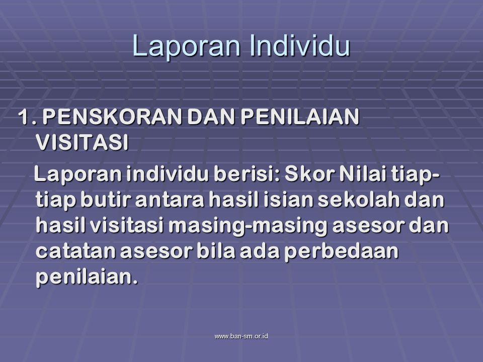 Laporan Individu 1. PENSKORAN DAN PENILAIAN VISITASI