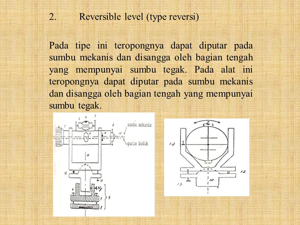 2. Reversible level (type reversi)