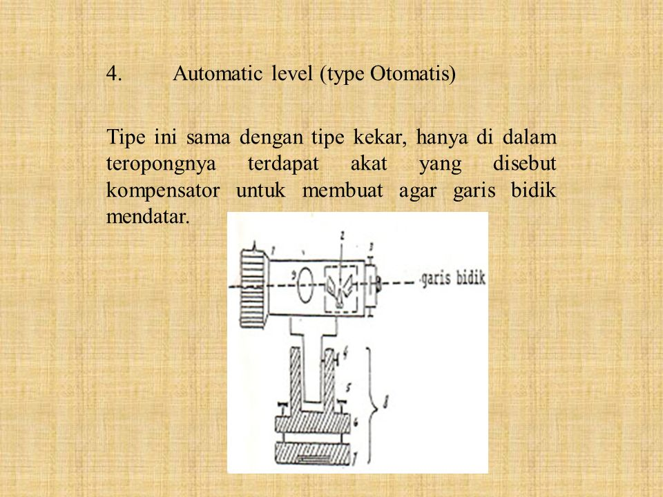 4. Automatic level (type Otomatis)