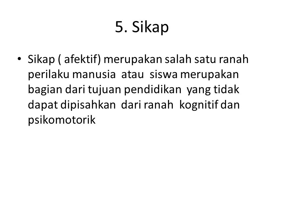 5. Sikap