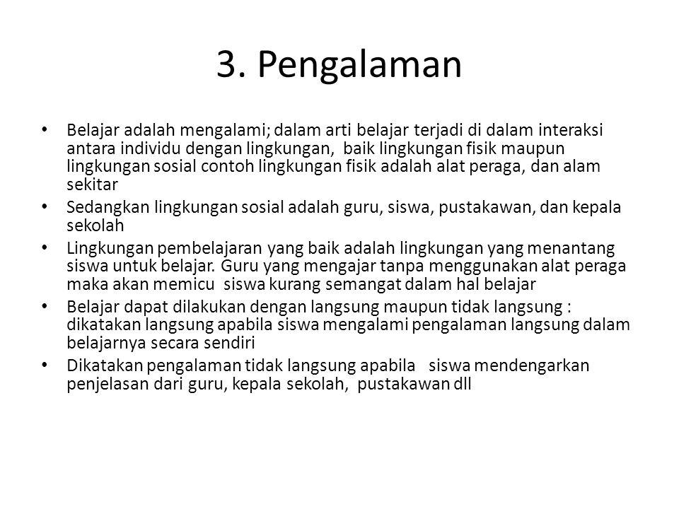 3. Pengalaman