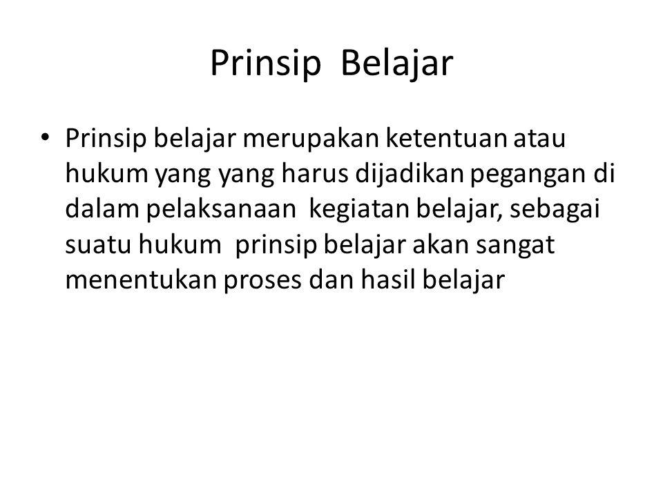Prinsip Belajar