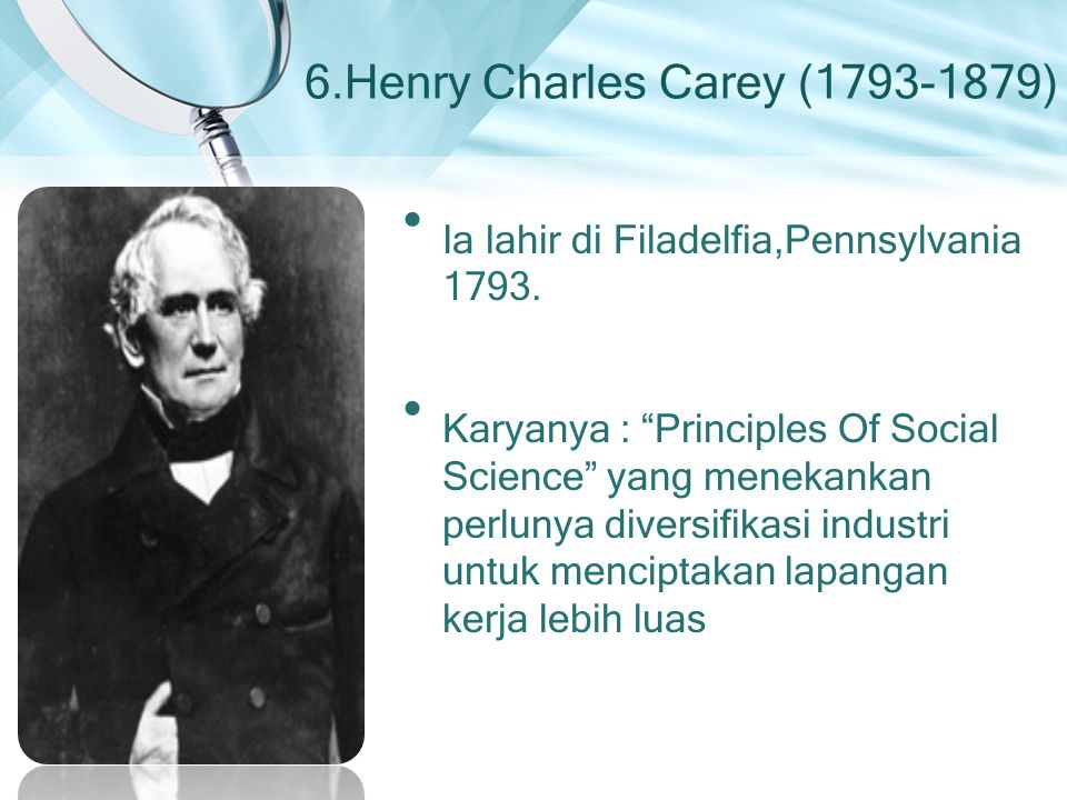 6.Henry Charles Carey (1793-1879)