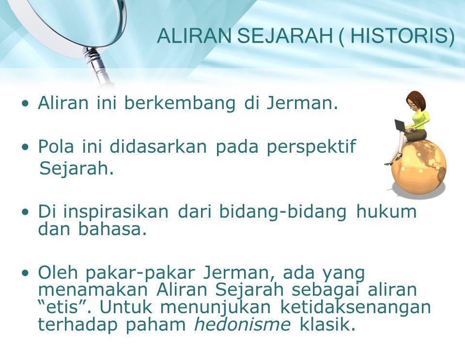 ALIRAN SEJARAH ( HISTORIS)