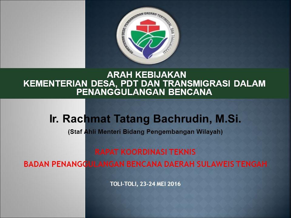 Ir. Rachmat Tatang Bachrudin, M.Si.