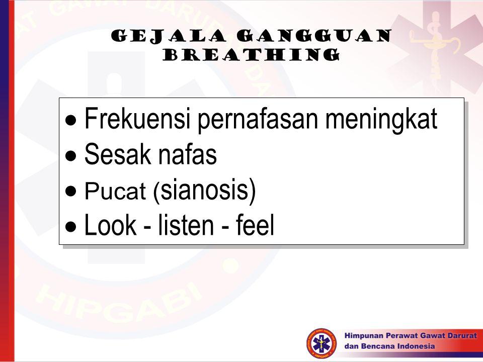 Gejala gangguan breathing