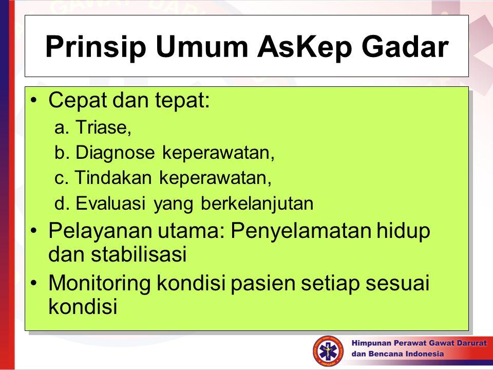 Prinsip Umum AsKep Gadar