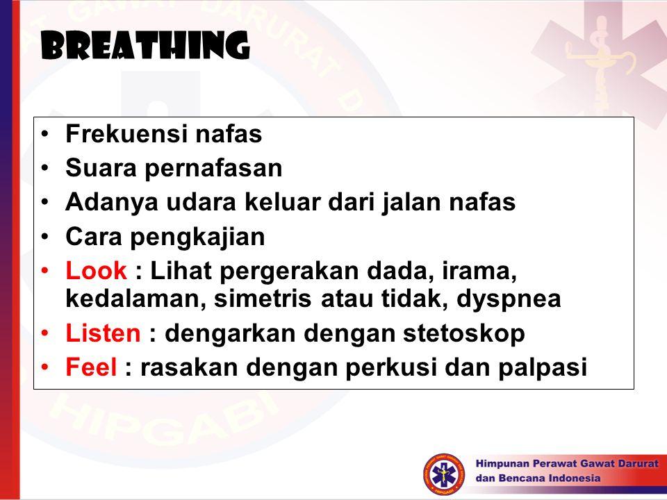 BREATHING Frekuensi nafas Suara pernafasan