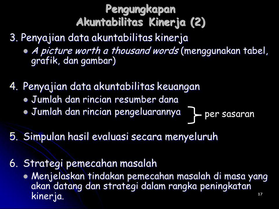 Pengungkapan Akuntabilitas Kinerja (2)