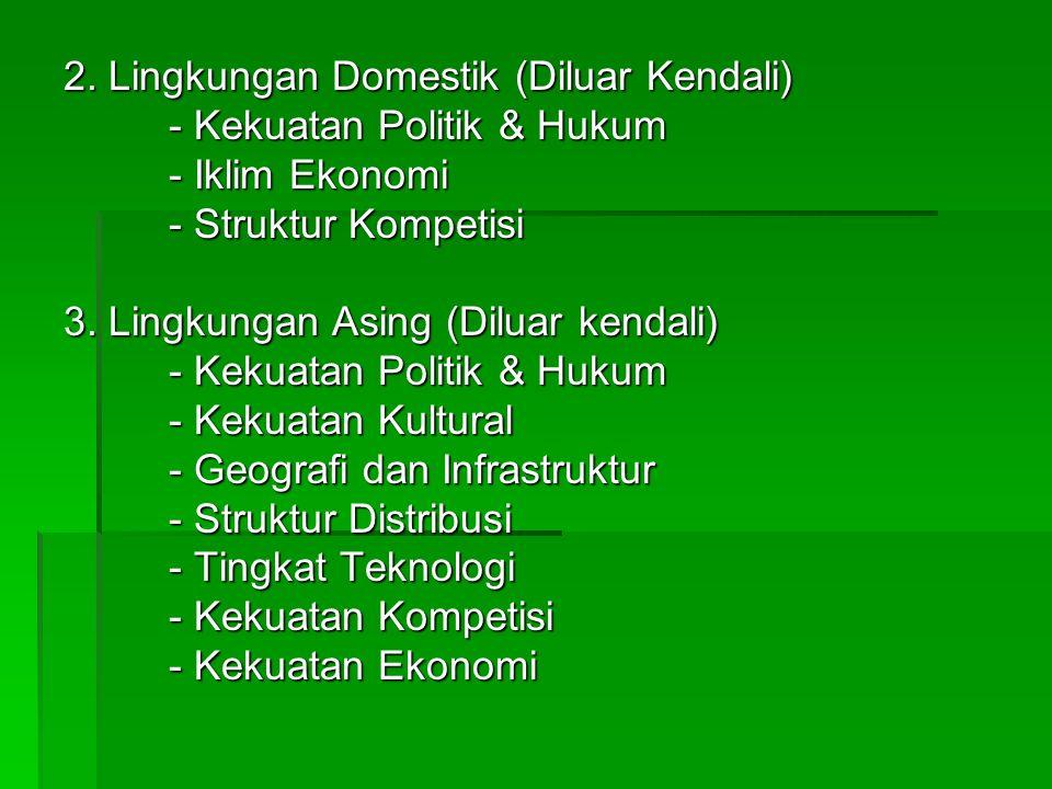 2. Lingkungan Domestik (Diluar Kendali)