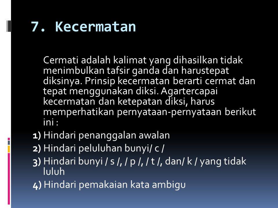 7. Kecermatan
