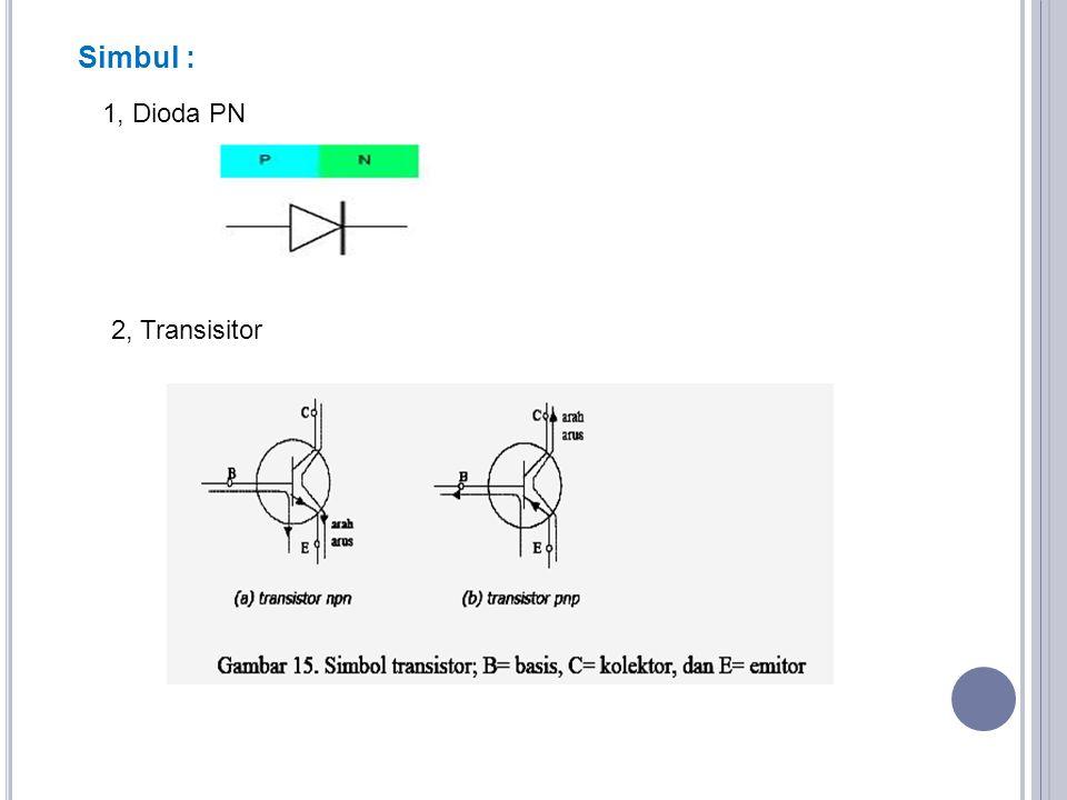 Simbul : 1, Dioda PN 2, Transisitor