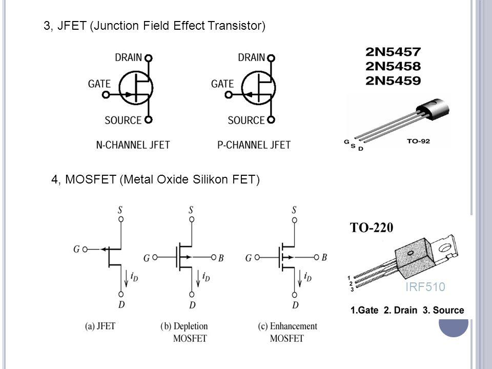 3, JFET (Junction Field Effect Transistor)