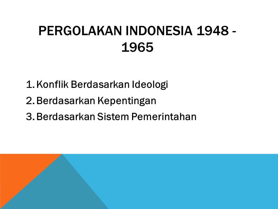 PERGOLAKAN INDONESIA 1948 - 1965