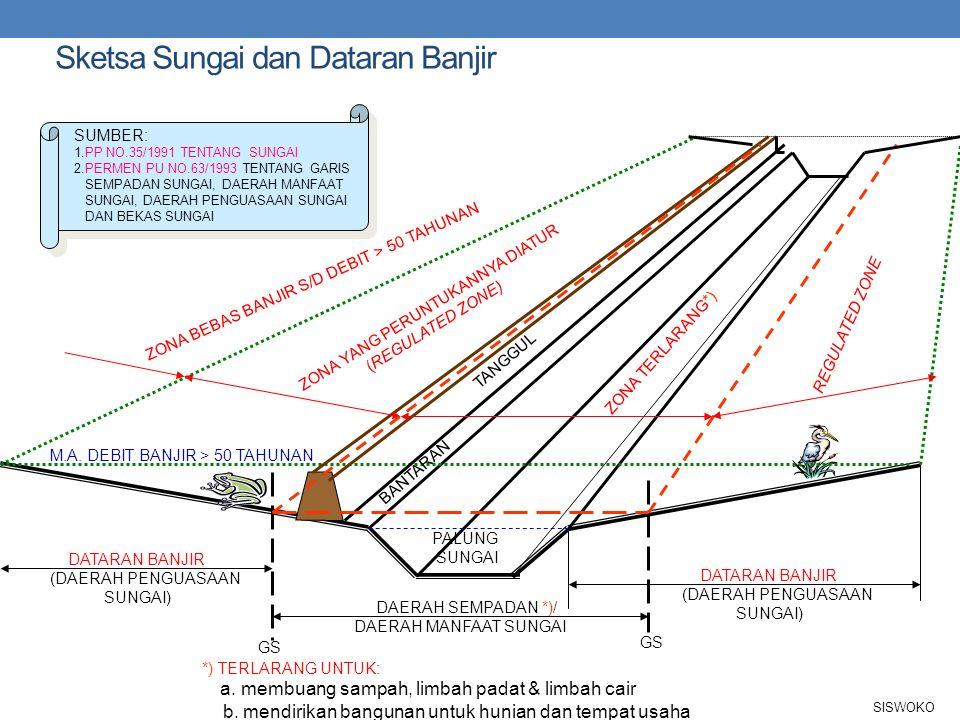 Sketsa Sungai dan Dataran Banjir