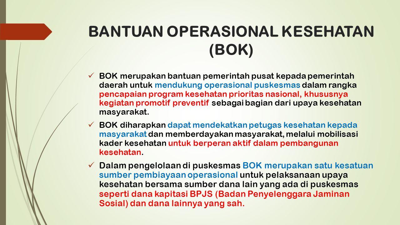 BANTUAN OPERASIONAL KESEHATAN (BOK)