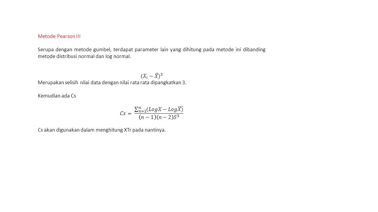 Metode Pearson III