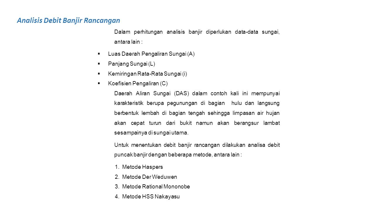 Analisis Debit Banjir Rancangan
