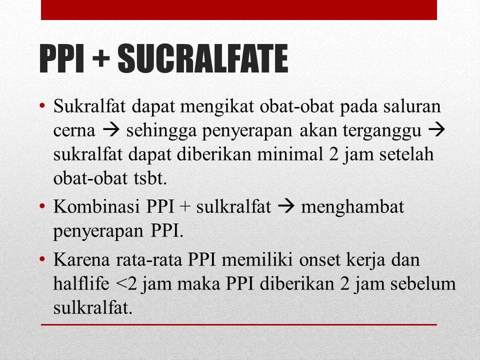 PPI + SUCRALFATE