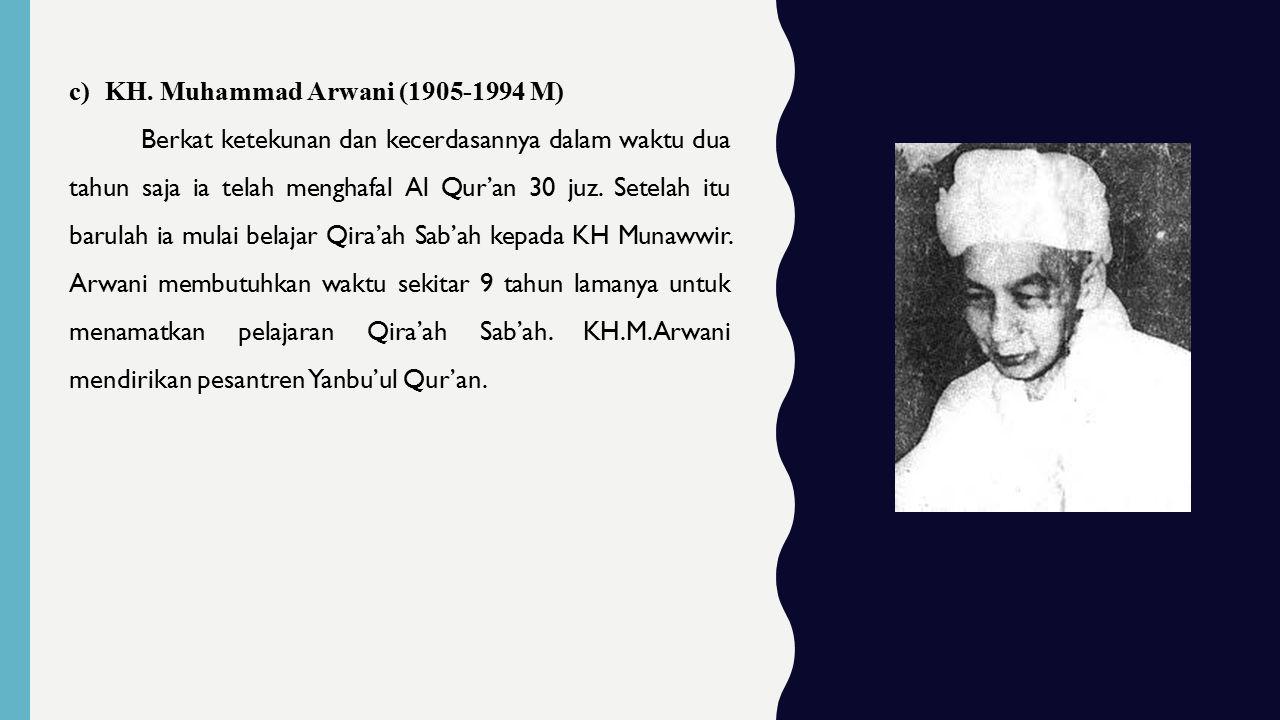 KH. Muhammad Arwani (1905-1994 M)