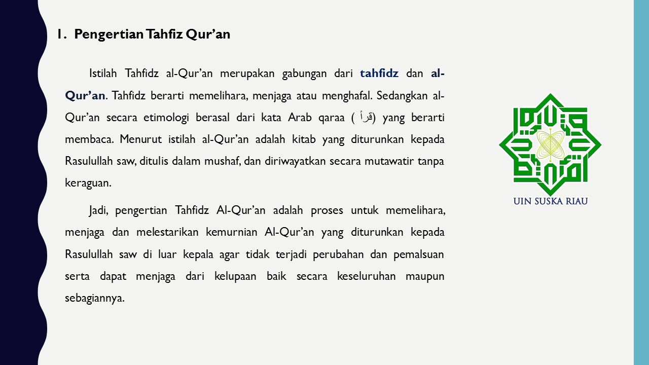 Pengertian Tahfiz Qur'an